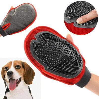 Pet Puppy Deshedding Cleaning Brush Magic Glove Dog Hair Massage Groomer DJ8