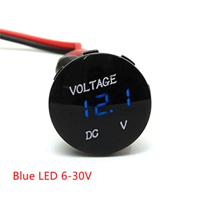 Practical Mini Waterproof Car SUV Panel Blue LED Digital Display Voltmeter Gauge