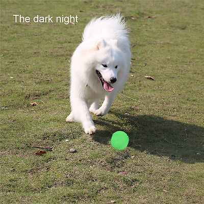 Night Luminous Glow in The Dark Rubber Ball Outdoor Play Game Toys Dog Fetch Toy