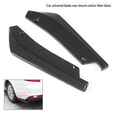 1 Paar L&R Auto Kohlefaser Rear Stoßstange Lippe Splitter Spoiler Flap Diffusor