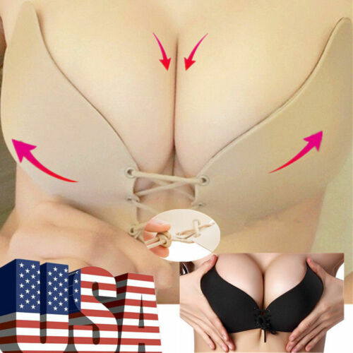 Silicone Push Up Bra Strapless Backless Invisible Self-adhesive Gel Stick On NEW Bras & Bra Sets