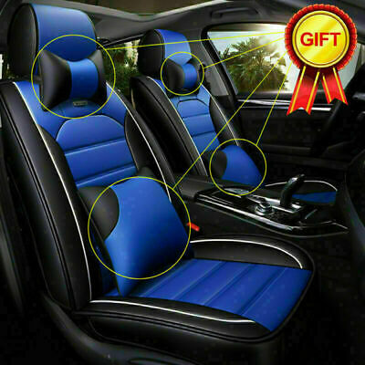 DE Autositzbezüge PU 5-Sitze Vordersitze Universal Front Rückseite Autositzbezug
