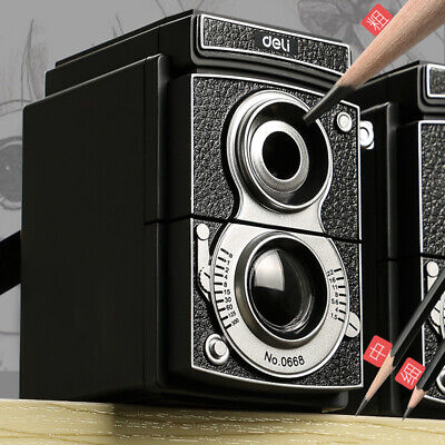 Retro Camera Style Pencil Sharpener Mechanical Manual Hand Cranking Stationery