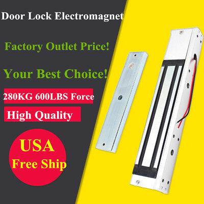 - Electric Door Lock Electromagnetic Magnetic Entry 280KG(600lbs) Holding Force