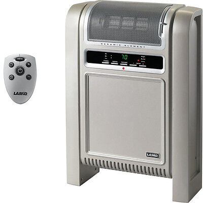 Lasko Cyclonic Portable Ceramic Heater, Slim Space Heat w/ Electric Thermostat