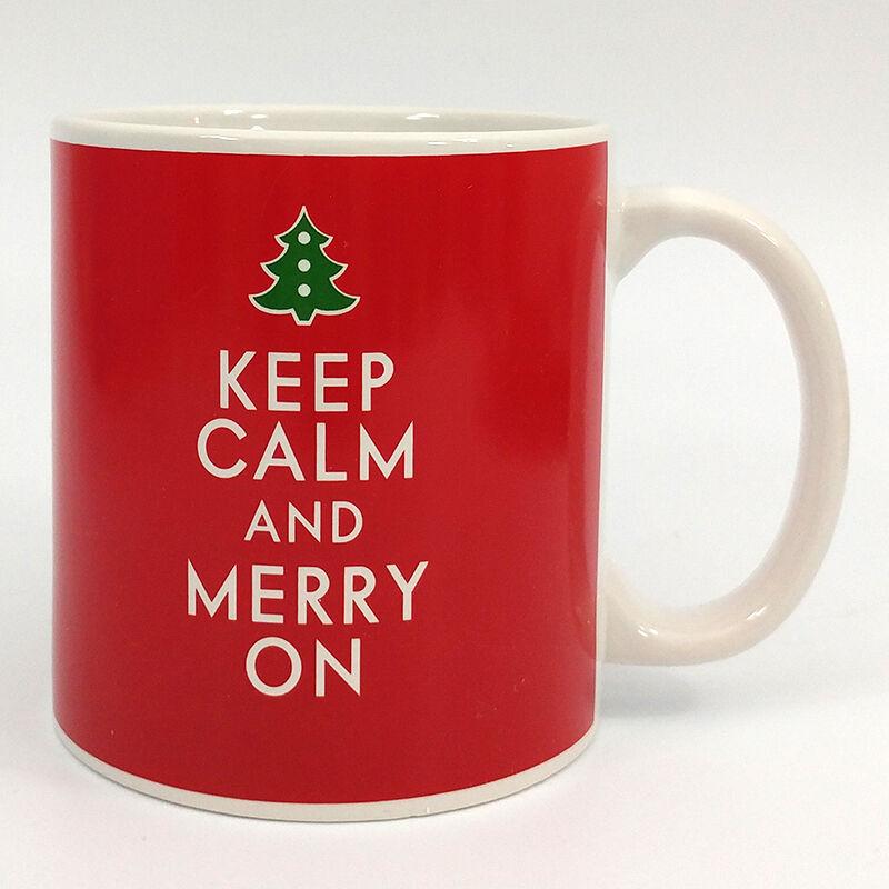 Keep Calm and Merry On Oversized Christmas Coffee Cup Mug