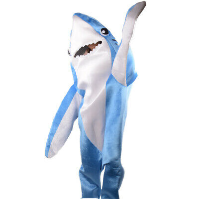 Shark Costumes Adult Animal Mascot Fancy Dress Halloween Cosplay Fleece Jumpsuit