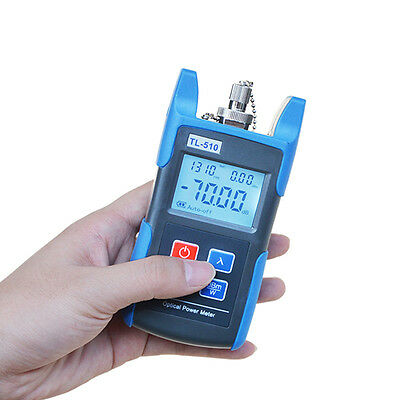 Fiber Optic Power Meter Tool Optical Tester Optical Light Source Scfc Adapters