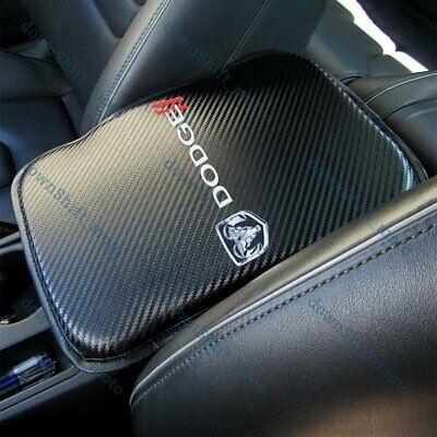 For DODGE Carbon Fiber Car Center Console Armrest Cushion Pad Cover Mat New 1PCS