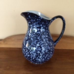 Speckled stone pottery jug