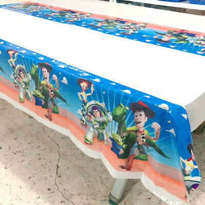 Toy Story Tablecloth (Toy Story Tablecloth Kids Birthday Party Cartoon Plastic Tablecover)