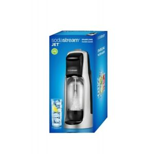 SodaStream Jet Black Silver Sparkling Water Maker New in Box