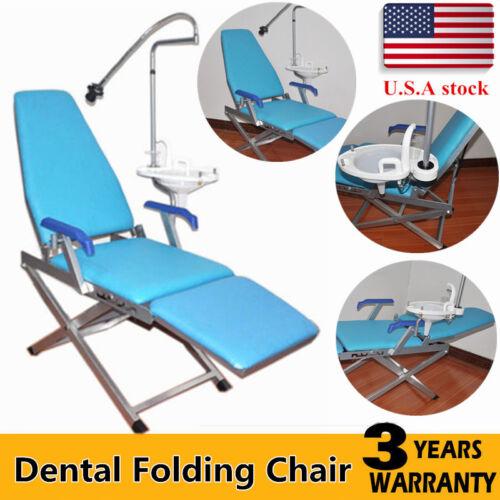 Dental Portable Folding Chair Unit w/ Water supply system w/ Cuspidor Tray + LED