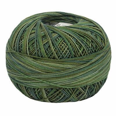 Lizbeth Egyptian Cotton Crochet Thread Size 10 Color 167 Jungle Greens