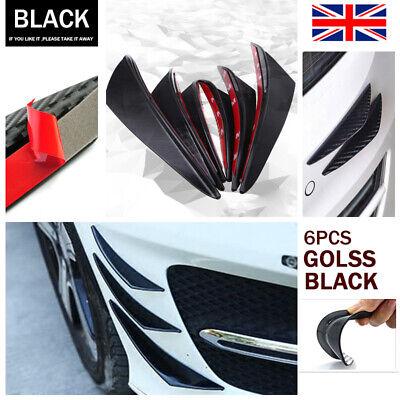 6Pcs Car Front Bumper Lip Splitter Fins Body Spoiler Canards Valence Rubber UK