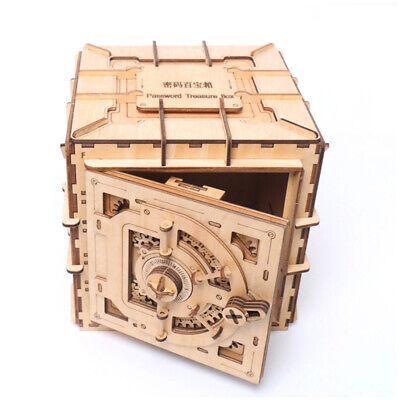Safe Tresor 3D Holzpuzzle Schatztruhe mechanisch DIY Kinder Bausatz Spardose