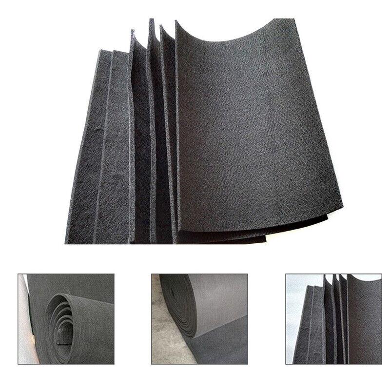 2 Sheets 20*30cm Black Graphite Carbon Felt Furnace Insulati