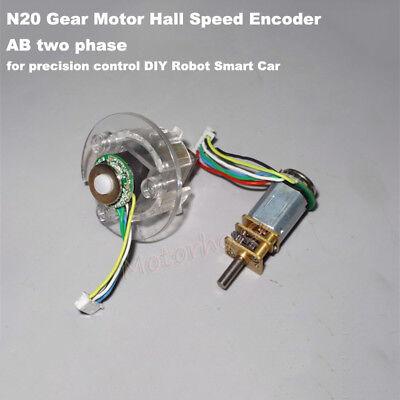 Micro N20 Metal Gear Motor Hall Speed Encoder Ab Two Phase Signal Diy Robot Car