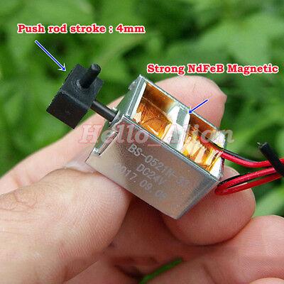 Dc 24v Push-pull Type Electric Solenoid Electromagnet Solenoid Magnet Stroke 4mm