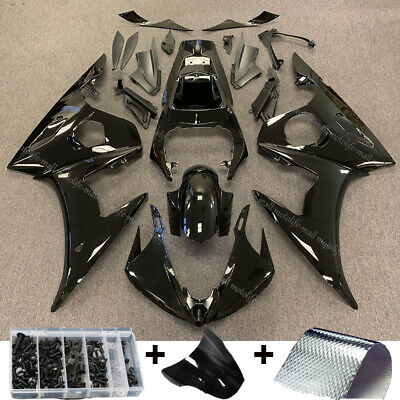 Gloss Black Injection Body Work ABS Fairing Kit Fit YAMAHA YZF R6 2005 YZF-R6