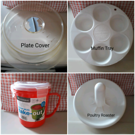4 MICROWAVE COOKING ACCESSORIES