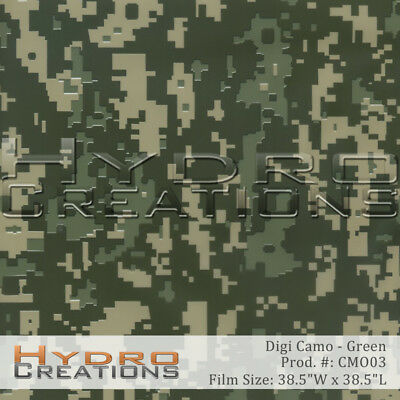 Hydrographic Film For Hydro Dipping Water Transfer Film Green Digi Camo