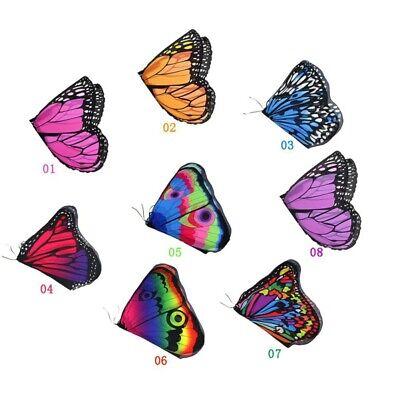 Kinder Mädchen Fee Schmetterlingsflügel Kostüm Prinzessin Schal Cape Cloak (Schmetterling Flügel Kostüm Kinder)