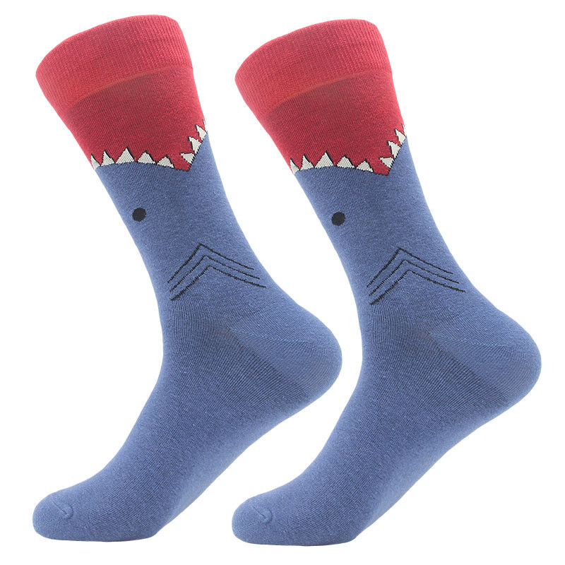 NEW Mens Cotton Socks Animal Alien Bear Chili Moustache Novelty Funny Sock #6950