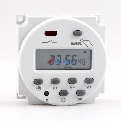 New AC110V LCD Digital Power Programmable Timer DC 110V 16A Timer Relay Switch
