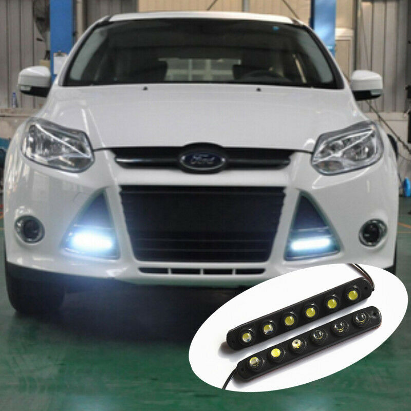 Car Waterproof 3M Hawkeye Daytime Running White 6 LED Light DRL Fog Driving Lamp