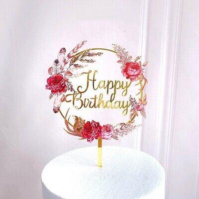 Happy Birthday Cake Topper Tortendeko Kuchendeko Tortenstecker 12,5 cm breit