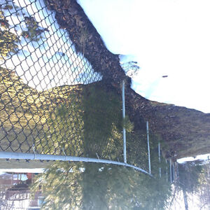 Chain link fence & double gate