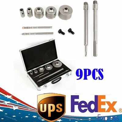 New Wall Hole Saw Drill Bit Sds Plus Shank Wrench Kit For Concrete Cement Stone