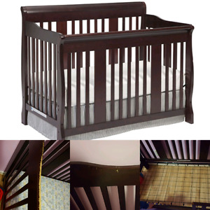 Stork Craft Tuscany 4-In-1 Convertible Crib - Espresso $180 obo