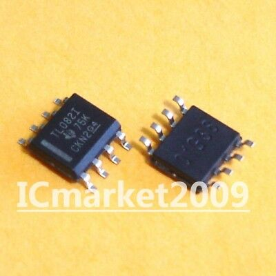 10 Pcs Tl082idr Sop-8 Tl082i Tl082 Soic-8 Jfet-input Operational Amplifiers