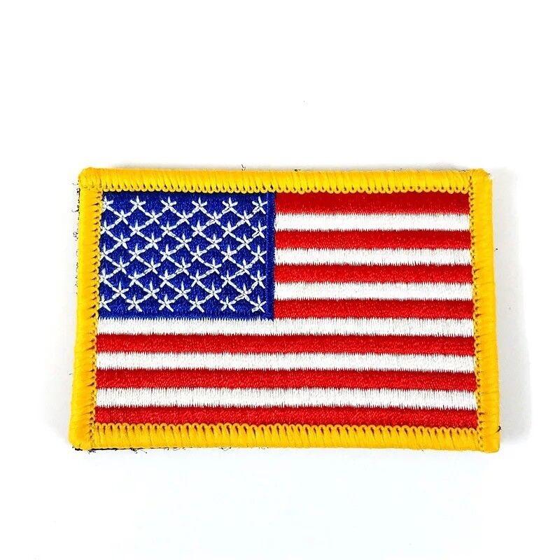 Outdoor Shoulder Military Tactical Backpack Travel Camping  Hiking Trekking Bag Gold Border USA Flag