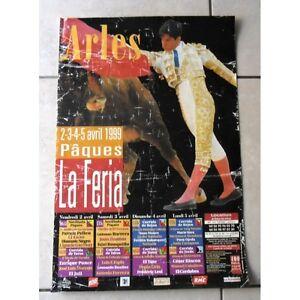 Affiche Feria ARLES 1999 paques NOVILLADA CORRIDA Ponce Bautista Mendoza Rincon - France - État : Bon état : Livre ayant déj été lu, mais qui est toujours en bon état. La couverture présente des dommages mineurs, comme des éraflures, mais n'est ni trouée ni déchirée. Pour les couvertures rigides, la jaquette n'est pas néces - France