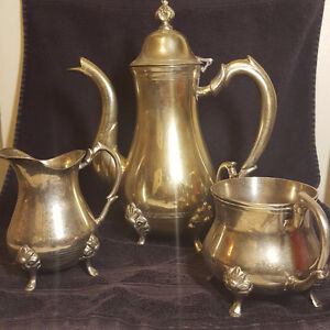 OLD SILVER TEA SET IN GREAT CONDITION