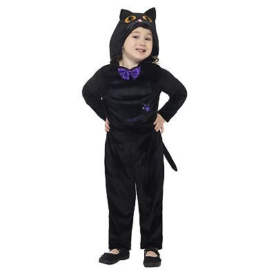 Toddlers Cute Black Cat Halloween Jumpsuit Costume Animals Kid Fancy Dress - Toddler Black Cat Costume Halloween