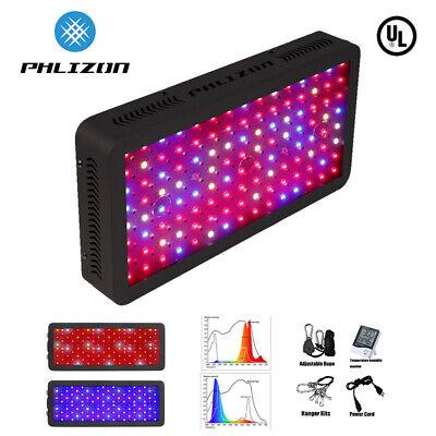 Phlizon 600W LED Grow Light Full Spectrum for Indoor Plants Hydro Veg and (Led Grow Light For Veg And Flower)