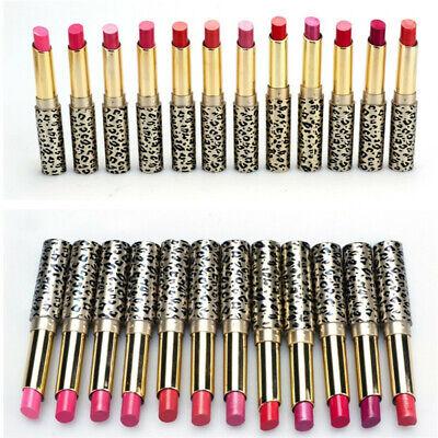 12Pcs/Set Farben Sexy Leopard Lippenstift Lipgloss lang anhaltende Kosmetik aa Stift Ende