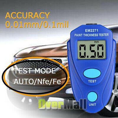 Mini Lcd Coating Thickness Gauge Auto Digital Portable Car Paint Meter Tester