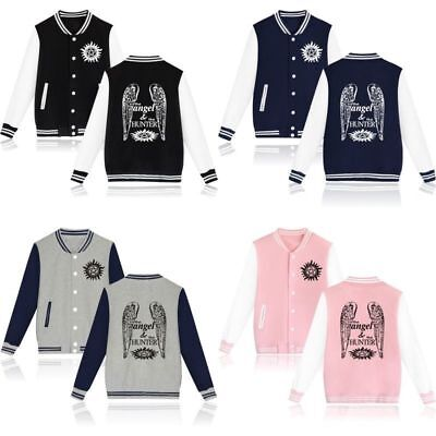 Supernatural Angel&Hunter Jackets Casual Baseball Clothing Coat Sportswear Tops