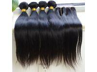 4PCS 8A Brazilian Virgin Human Hair Bundles Plus Closure High Quality Straight