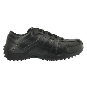 Brand New skechers Boys' WIELAND black casual oxfords shoes