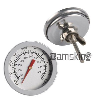 2x Edelstahl BBQ Bratenthermometer Ofenthermometer Grill Thermometer 50-500°C