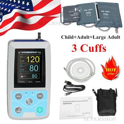 3 Cuffs Ambulatory Blood Pressure Monitor 24h Nibp Pr Handheldpc Software Usa