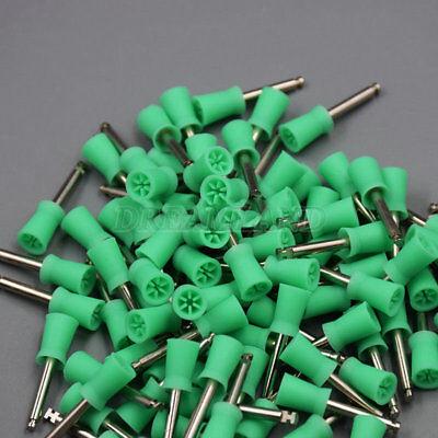 100 Pcs Dental Prophy Polishing Cup Brush Teeth Bowl Green Color Polisher