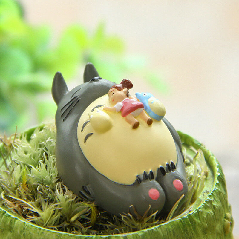 Studio Ghibli My Neighbor Totoro Mei Sleeping Modeling Figure Toy Garden Decor