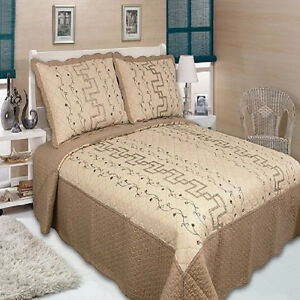 100% COTTON 3 PIECE QUEEN SIZE QUILT SETS (BRAND NEW STOCK 2016)